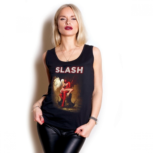 Slash Angel & Devil Puff Print Ladies Vest: Medium