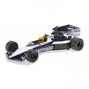 Ex-Display Minichamps 1:18 Scale 1983 Brabham BMW BT52B Aryton Senna Test Car Die Cast Model Used - Like New