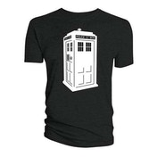 Doctor Who - Glow in the Dark Tardis Women's Small T-Shirt - Black