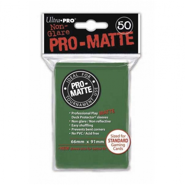 Ultra Pro Matte Green 50 Sleeves - 12 Packs - Image 1