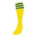 Precision 3 Stripe Football Socks Boys Yellow/Royal