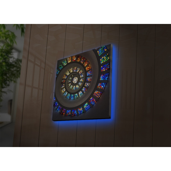 4040DACT-49 Multicolor Decorative Led Lighted Canvas Painting