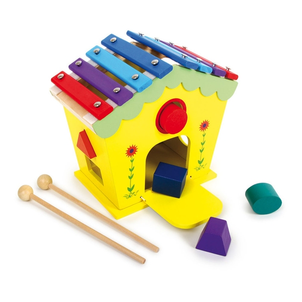 Legler - Small Foot Dodoo House of Sounds and Activities Wooden Musical Kid's Toy (Multi-colour)