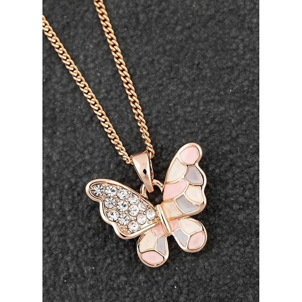 Handpainted Sparkle Butterfly RGP Necklace