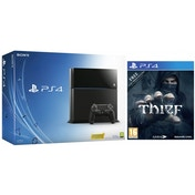 PlayStation 4 (500GB) Black Console + Thief Game