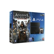 PlayStation 4 (500GB) Black Console with Assassin's Creed Syndicate and Watchdogs