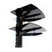 Tempered Black Glass Floating Shelf | M&W 2 Tier - Image 3