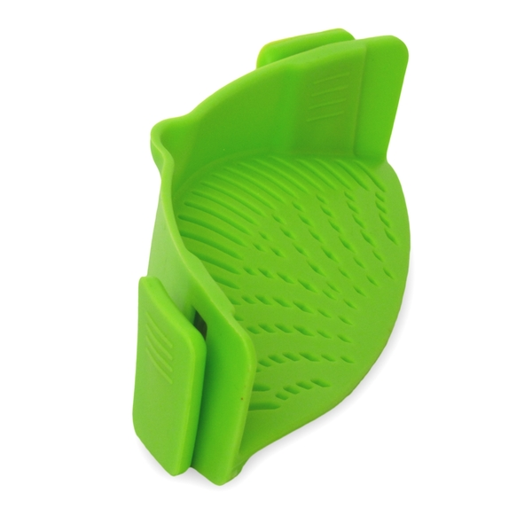 Silicone Clip on Pan Sieve & Strainer | FREE Clip On Pour Spout | M&W - Image 4