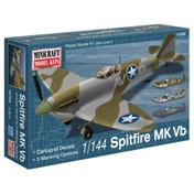Spitfire Vb with 3 markings options 1:144 Minicraft Models Model Kit