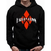 Batman - Harley Quinn Diamond Logo Men's Small Hooded Sweatshirt - Black