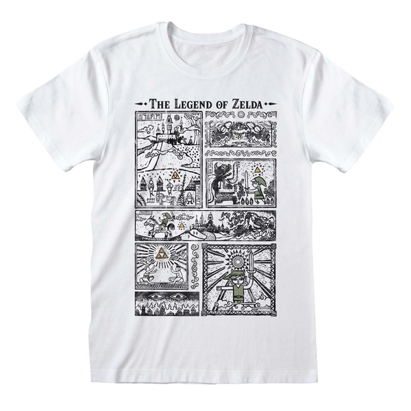 Legend Of Zelda - Drawings Unisex XX-Large T-Shirt - White