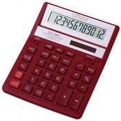 Citizen SDC888XRD  Solar & Battery Power 12 Digit Calculator Red