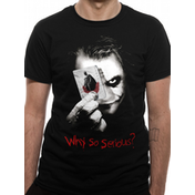 Batman: The Dark Knight - Why So Serious Men's Small T-Shirt - Black