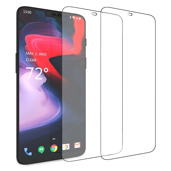 CASEFLEX ONEPLUS 6 GLASS SCREEN PROTECTOR (TWIN PACK) - CLEAR