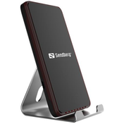 Sandberg Wireless Charging Dock, 10 W, Aluminium, Micro USB, Supports Fast Charge UK Plug