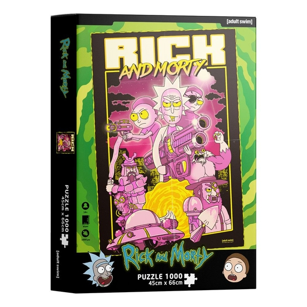 Rick & Morty Jigsaw Puzzle Retro Poster (1000 pieces)