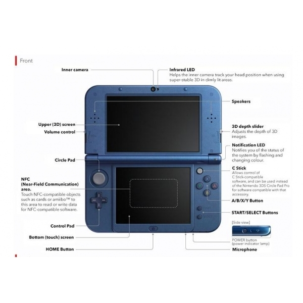 New Nintendo 3DS XL Handheld Console Metallic Blue - Image 3