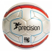 Precision Santiago Match Football (White/Orange) Size 5
