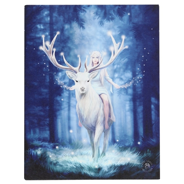 19 x 25cm Fantasy Forest Canvas Plaque By Anne Stokes