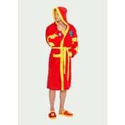 Iron Man Marvel Red and Yellow Fleece Robe with Hood