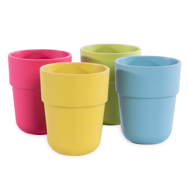 Bamboo Fibre Tableware Cups - Set of 4 | M&W