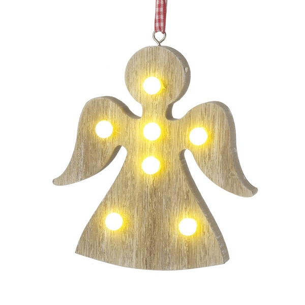 Wooden Angel Hanging Decoration by Heaven Sends