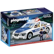 Playmobil City Action Police Car with Flashing Lights