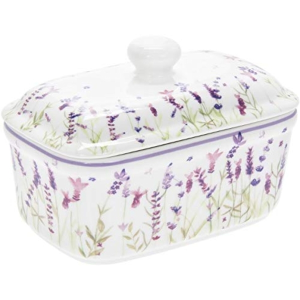 Lavender Butter Dish By Lesser & Pavey