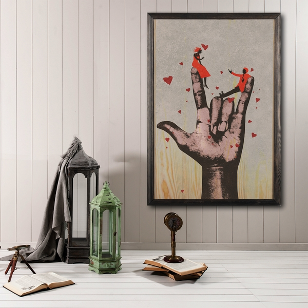 Rock XL Multicolor Decorative Framed Wooden Painting