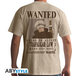 One Piece - Wanted Trafalgar Law Men's X-Large T-Shirt - Beige - Image 2