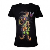 Nintendo Legend Of Zelda Men's Skull Kid Majoras Mask X Large T-Shirt - Black