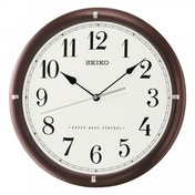 Seiko QXR303B Radio Controlled Wooden Wall Clock Dark Brown