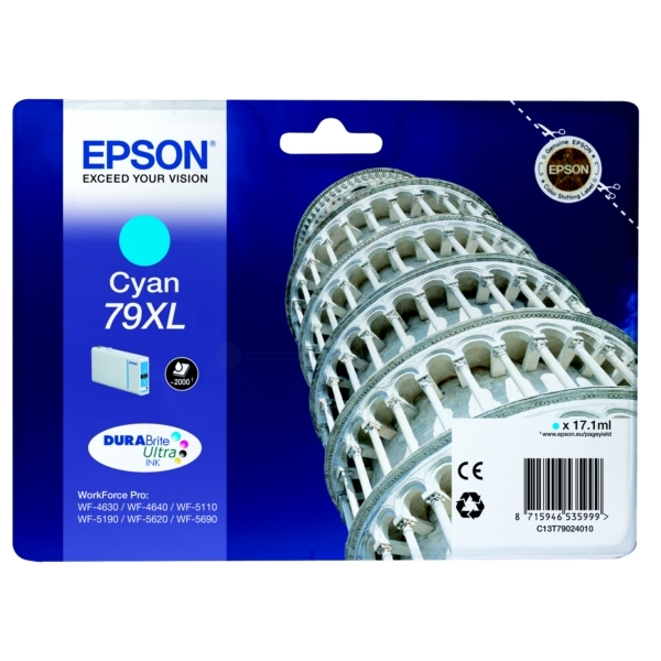 Epson C13T79024010 (79XL) Ink cartridge cyan, 2K pages, 17ml