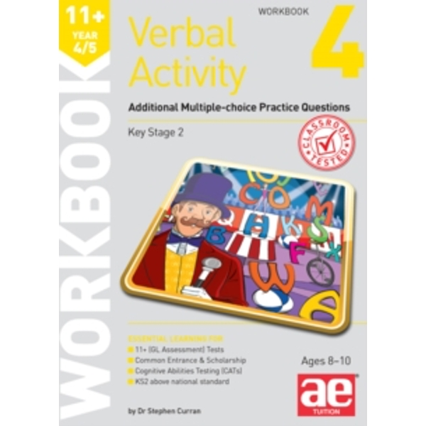 11+ Verbal Activity Year 4/5 Workbook 4 : Additional Multiple-choice Practice Questions
