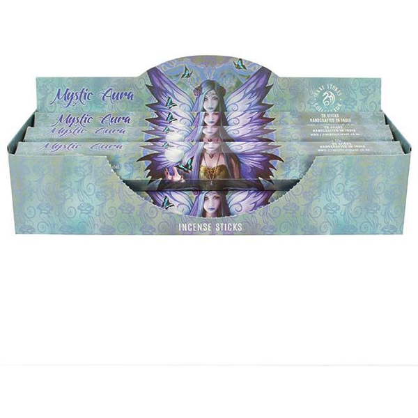 Pack of 6 Mystic Aura Incense Sticks by Anne Stokes