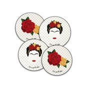 Frida Kahlo Minimalist Coasters - Set of 4