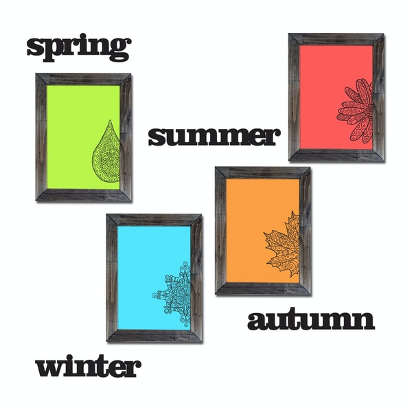 CYT-3 Multicolor Decorative Framed MDF Painting (8 Pieces)