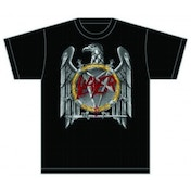 Slayer (Silver) Eagle Mens T Shirt: Large