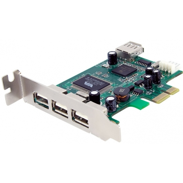 Image of 4 Port PCI Express Low Profile High Speed USB Card