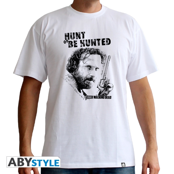 The Walking Dead - Hunt Or Be Hunted Men's Small T-Shirt - White