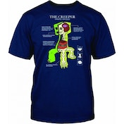 Minecraft Creeper Anatomy T-Shirt 9-11 Years