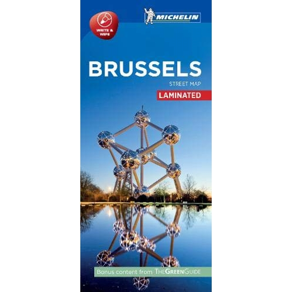 Brussels - Michelin City Map 9207 Laminated City Plan Sheet map 2016