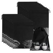 Travel Shoe Bags - Set of 18 | Pukkr Black