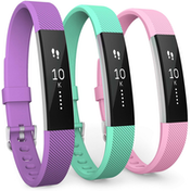 Yousave Fitbit Alta / Alta HR Strap 3-Pack Small - Violet/Mint Green/Blush Pink