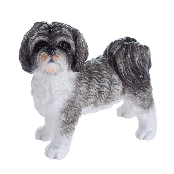 Shihtzu Black & White Figurine By Lesser & Pavey