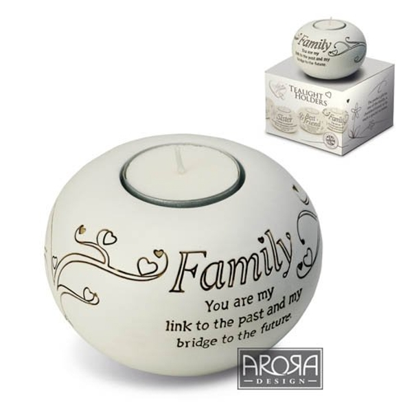 Arora Said with Sentiment Tealight Holder - Family