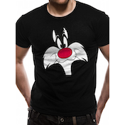 Looney Tunes - Sylvester Face Men's Medium T-Shirt - Black