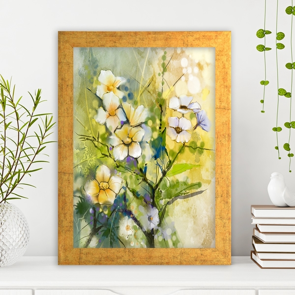 AC370603829 Multicolor Decorative Framed MDF Painting