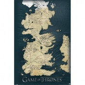 Games Of Thrones Map Maxi Poster