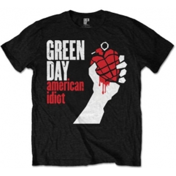 Green Day American Idiot Mens Black T Shirt: X Large